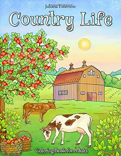 Country Life Coloring Book for Adults
