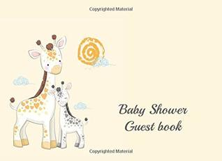 baby shower guest book: Cute Giraffe design cover. Autograph Sign in welcome book for baby.