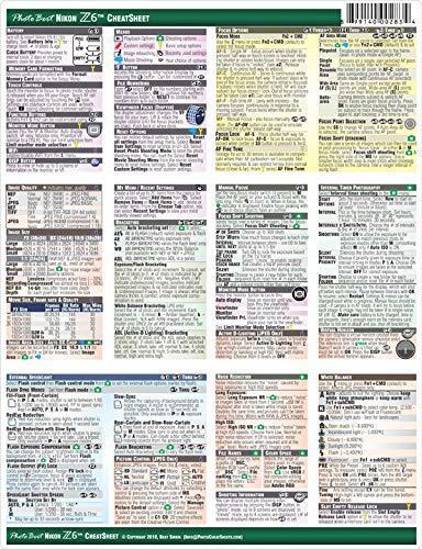Nikon Z6 Digital Mirrorless Camera CheatSheet