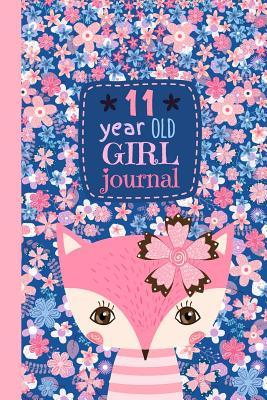 11 Year Old Girl Journal: Cute Happy Birthday Notebook Wide Ruled and Blank Framed Sketchbook, Pink Fox Diary for Eleven Year Old Kids to Keep Memories, Draw, Write and Sketch