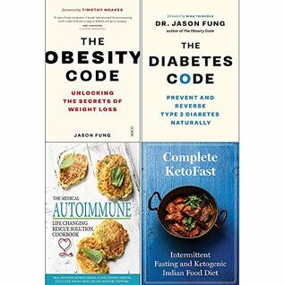 Obesity code, diabetes code, medical autoimmune, complete ketofast 4 books collection set