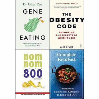Gene eating, obesity code, nom nom fast 800 cookbook, complete ketofast 4 books collection set