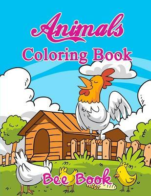 Animals Coloring Book by Bee Book: 20 Unique Animals Images and 2 Copies of Every Image. Makes the Perfect Gift for Everyone.