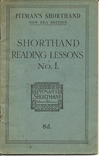 Pitman New Era Shorthand Instructor And Key