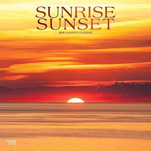 Sunrise Sunset 2019 Square Wall Calendar