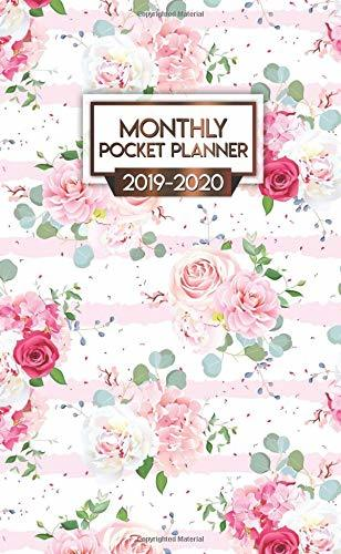 2019-2020 Monthly Pocket Planner: Nifty Red Roses Peonies Two-Year Monthly Pocket Planner with Phone Book, Password Log and Notebook. Cute Floral Calendar, Organizer and Agenda.