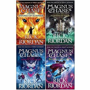 Rick riordan magnus chase series 4 books collection set (the sword of summer, hammer of thor, ship of the dead, 9 from the nine worlds [hardcover])