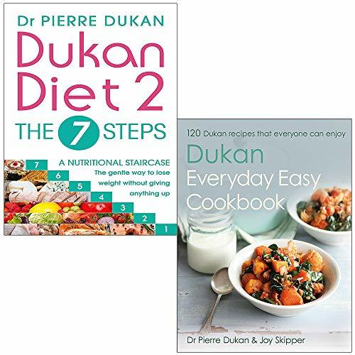 Dukan diet 2 the 7 steps and everyday easy cookbook [hardcover] 2 books collection set