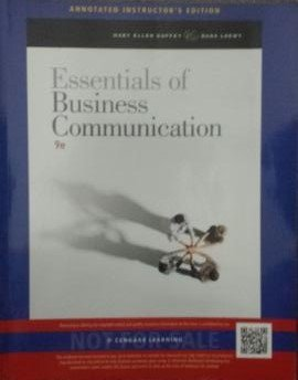Essentials of Bussiness Communication (Annotated Instructor Edition)