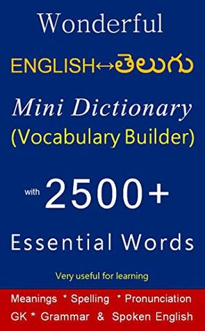 Wonderful English to Telugu / Telugu to English Mini Dictionary: