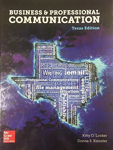 Business & Professional Communication - Texas Edition