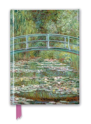 Claude Monet: Bridge over a Pond of Water Lilies (Foiled Journal) (Flame Tree Notebooks)
