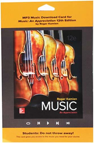 MP3 Download Card for Music: An Appreciation