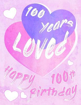 Happy 100th Birthday 100 Years Loved Say And Show Your Love All