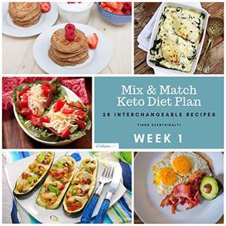 WEEK 1 – Mix & Match Keto Diet Plan – 28 Interchangeable Recipes
