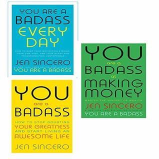 You are a badass, at making money, every day [hardcover] 3 books collection set by jen sincero