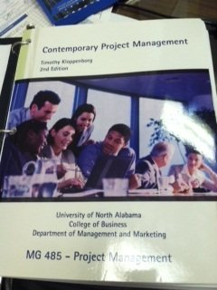 Contemporary Project Management 2nd Ed. UNA Edition