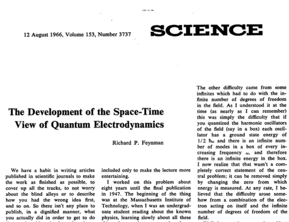 The Development Of The Space-time View Of Quantum Electrodynamics