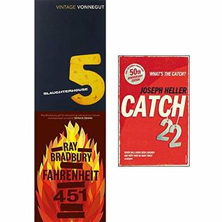 Slaughterhouse 5, Fahrenheit 451, Catch-22 Collection 3 Books Set