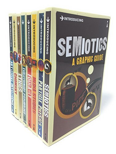 A Graphic Guide Introducing 8 Books Collection Set – Series 4 (Titles in the Set Semiotics, Particle Physics, Media Studies, Foucault, Evolutionary Psychology, Ethics, Chomsky, Artificial)