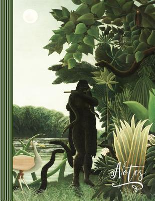 Notes: Music Sheet Notebook (Large) - Blank Tab Staff Manuscript Notation Composition Book - 12 Stave Musician Paper Songwriting Journal - Henri Rousseau Green Jungle Landscape the Snake Charmer Painting