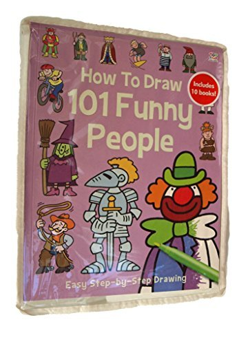 How to Draw 101-10 Books in a Zip lock bag - Baby Animals, Cartoon Characters, Dinosaurs, Funny People, Funny Animals, Horses, Super Heroes, Spooky things, Things That go, Pirate Things