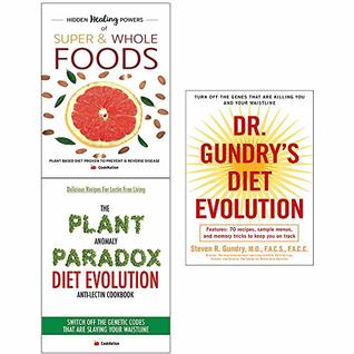 Dr. gundry's diet evolution and anomaly diet and hidden healing powers of super 3 books collection set