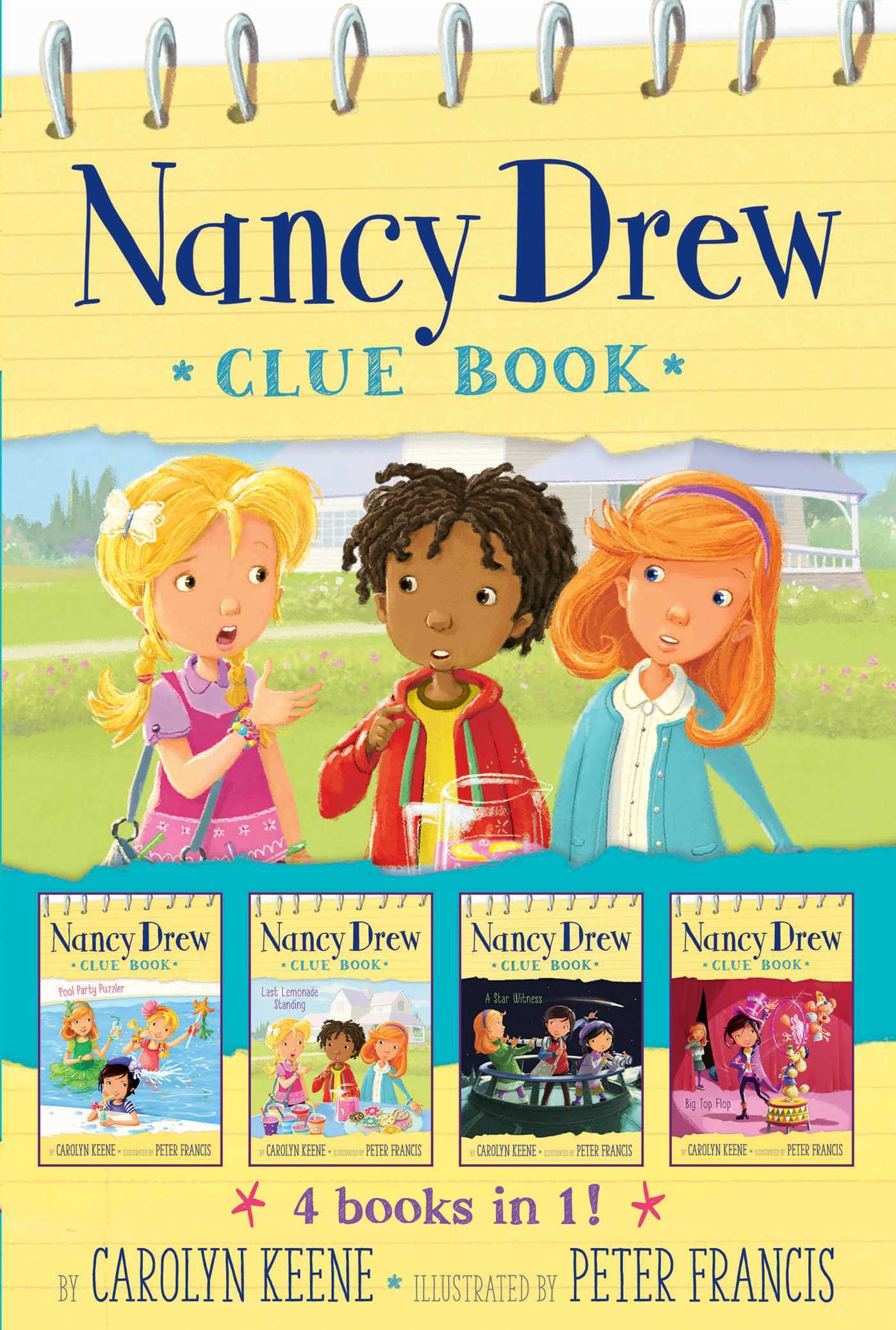 Nancy Drew Clue Book 4 books in 1!: Pool Party Puzzler; Last Lemonade Standing; A Star Witness; Big Top Flop