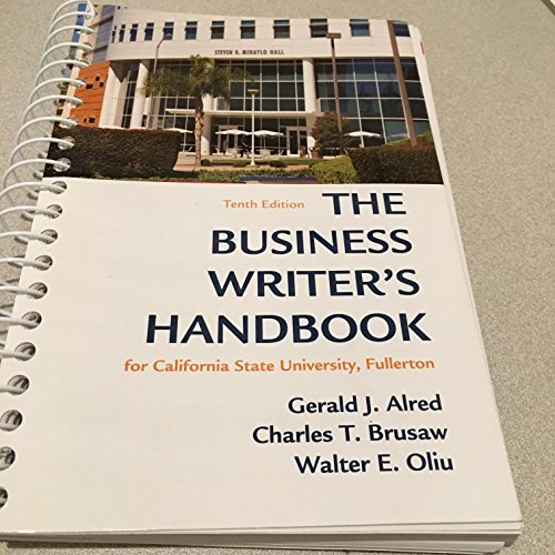 BUSINESS WRITER'S HANDBOOK >CU
