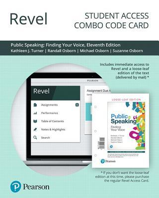 Revel for Public Speaking: Finding Your Voice -- Combo Access Card
