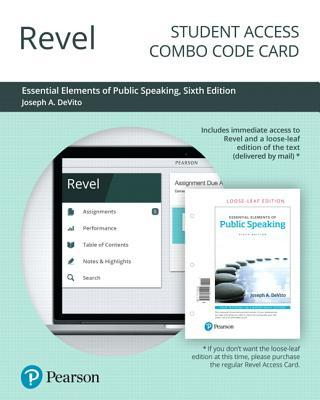 Revel for Essential Elements of Public Speaking -- Combo Access Card