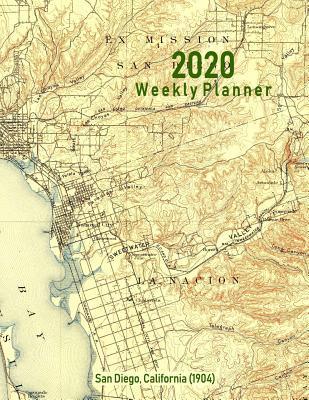 2020 Weekly Planner: San Diego, California (1904): Vintage Topo Map ...