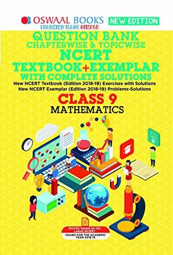 Oswaal NCERT (Solutions Textbook + Exemplar) Class 9 Maths (March 2019 Exam)