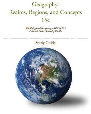 Geography: Realms, Regions and Concepts 15 ed. Un. of Mary Washington