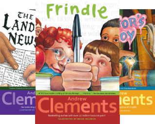 Andrew Clements' School Stories: Frindle; Landry News; The Janitor's Boy; The School Story; A Week in the Woods; Lunch Money; Room One; No Talking; Lost and Found; Extra Credit (10 Book Series)