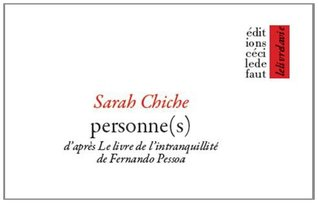 Personne(s) d'après le Livre de l'intranquillité de Fernando Pessoa