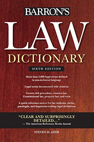 Law Dictionary (Barron's Law Dictionary