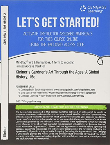 MindTap Art, 1 term (6 months) Printed Access Card for Gardner's Art Through the Ages, Enhanced