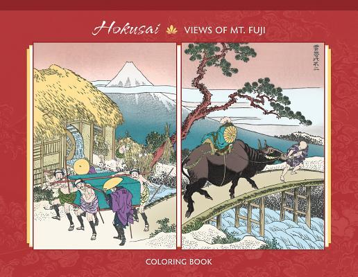 Hokusai: One Hundred Views of Mt. Fuji Coloring Book