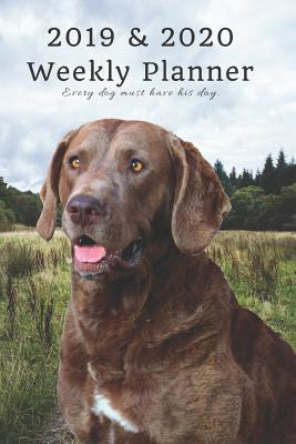 2019 & 2020 Weekly Planner Every Dog Must Have His Day.: Chesapeake Bay Retriever in Nature: Two Year Agenda Datebook: Plan Lab Notes, Goals to Gain & Work to Maintain Daily & Monthly (6 X 9 In; 105 Pages)