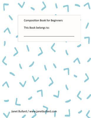 Composition Book for Beginners: Blue Arrows