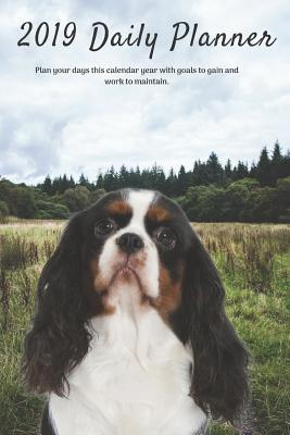 2019 Daily Planner Plan Your Days This Calendar Year with Goals to Gain and Work to Maintain.: Cavalier King Charles Spaniel Dog Appointment Book for Hourly, Weekly, Monthly Planning 6am - 8pm, Page Space for Tracking Notes & To-Do List: 6 X 9 in