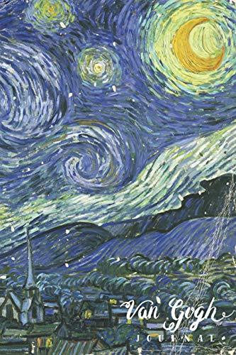 Van Gogh Journal: Vincent Van Gogh Starry Night Blank Lined Notebook For College Students Who Loves Painting Art