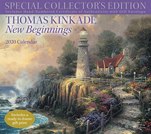 Thomas Kinkade Special Collector's Edition 2020 Deluxe Wall Calendar: New Beginnings