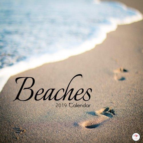 Beaches 2019 Calendar: 2019 Beaches Wall Calendar Mini 8.5 x 8.5 12 Month Colorful Beach Images