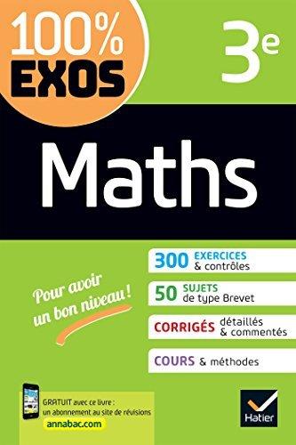 Maths 3e : exercices résolus (100% Exos)