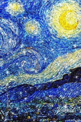 Journal: Van gogh glitter starry night notebook