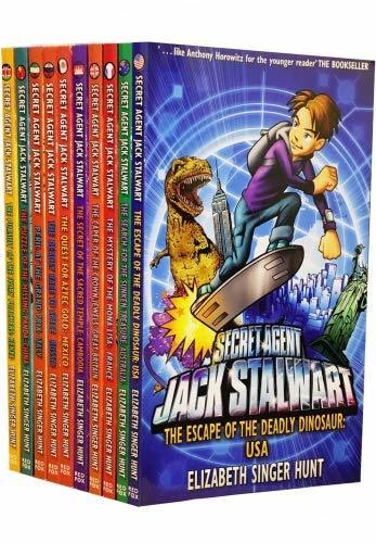 Secret Agent Jack Stalwart 10 Books Set Collection (Childrens Books, Age 6 To 11, Spy Agent books)