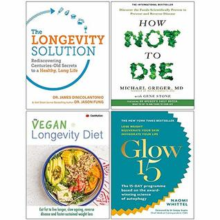 Longevity Solution, How Not To Die, Vegan Longevity Diet, Glow15 Collection 4 Books Set