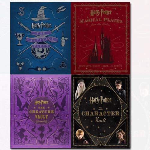 Harry Potter Collection 4 Books Bundle By Jody Revenson (The Creature Vault, Magical Places from the Films, The Character Vault, The Artifact Vault)